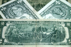 dolary dwa fotografia royalty free