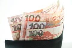 Dolary Hong Kong, Hong Kong portfel, Hong Kong pieniądze obrazy stock