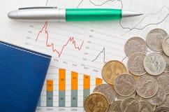 Dolary i grafika zdjęcia stock