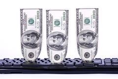 dolary klawiaturowi Obrazy Stock