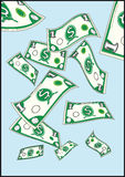 dolary latać Zdjęcia Royalty Free