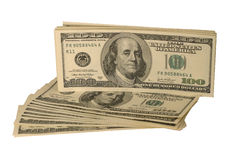 dolary odizolowywających stan unated biel Fotografia Stock