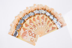 Dolary pieniądze odizolowywającego na białym tle Fotografia Royalty Free