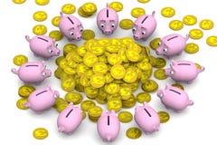 dolary pieniężnych dziewczyny chwytów jucznego przyjemności sukcesu Pojęcie Fotografia Royalty Free