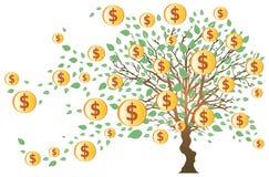 dolary pieniędzy drzewo Zdjęcia Stock