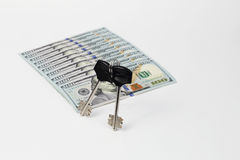 Dolary pod kluczami Zdjęcia Royalty Free