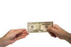 dolary ręka Obraz Royalty Free