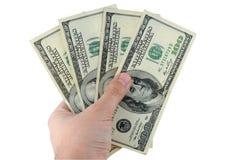 dolary ręka mienie Fotografia Stock