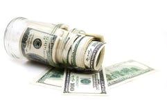 dolary słojów pieniędzy obrazy royalty free