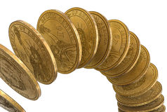dolary spadać Obraz Stock