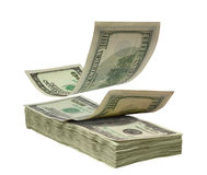 dolary spadać sterta Zdjęcia Stock