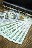 dolary sto portfli Zdjęcie Stock