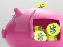 Dolary W prosiątku Pokazują walutę I inwestycję Zdjęcie Stock