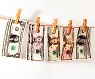 Dolary ważą na arkanie Obraz Royalty Free