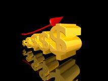 dolary wzrostowi Zdjęcie Stock