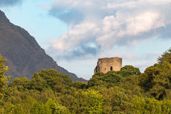 Dolbadarn Castle. Taken during the golden hour on my family trip to Wales Stock Image