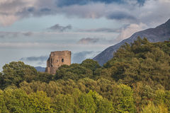 Dolbadarn Castle. Taken during the golden hour on a trip to Wales stock photo