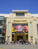 The Dolby Theater at Hollywood Boulevard - Home of the Oscars - LOS ANGELES - CALIFORNIA - APRIL 20, 2017 royalty free stock photos