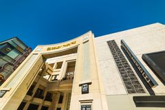 Dolby Theater in Hollywood boulevard. Los Angeles, CA, USA - November 02, 2016: Dolby Theater in Hollywood boulevard royalty free stock photography