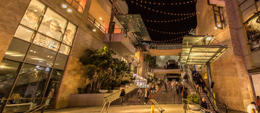 Dolby Theater. Hollywood Boulevard outside Sees evening stock photos