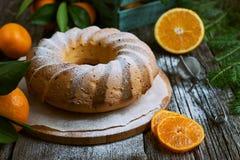Dolce arancio casalingo immagini stock libere da diritti