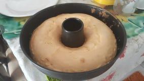 Dolce arancio di dieta con l'essenza bianca della vaniglia immagine stock