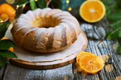 Dolce arancio di Natale casalingo fotografia stock