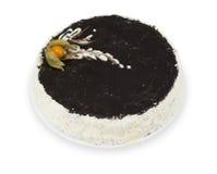 Dolce casalingo decorato con glassare in bianco e nero Immagine Stock Libera da Diritti