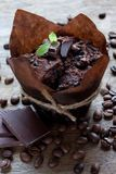 Dolce con i chicchi di caffè e del cioccolato Fotografia Stock Libera da Diritti