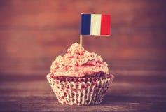 Dolce con la bandiera del francese. Fotografie Stock Libere da Diritti