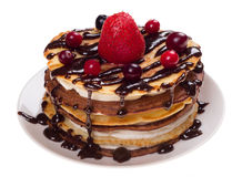 Dolce dei pancake Fotografia Stock