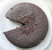 Dolce del biscotto del cioccolato, un pezzo solo cutted fuori Immagini Stock Libere da Diritti