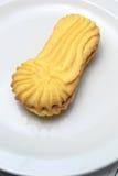 Dolce del biscotto di burro in un piatto Fotografie Stock