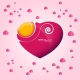 Dolce del cuore di amore Immagini Stock Libere da Diritti