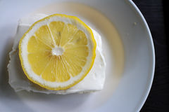 Dolce del limone Fotografia Stock