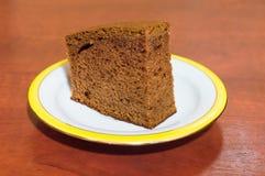 Dolce del pan di zenzero sul piatto Fotografia Stock