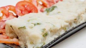 Dolce del ravanello fritto alimento vegetariano o fine kway di rimorchio di Chai su Fotografia Stock