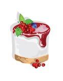 Dolce delizioso con l'inceppamento del mirtillo rosso Immagine Stock Libera da Diritti