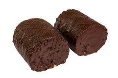 Dolce delizioso del biscotto con cioccolato Fotografie Stock Libere da Diritti