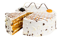 Dolce delizioso del biscotto con le prugne Immagini Stock Libere da Diritti