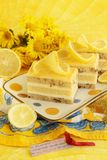 Dolce della cagliata di limone Fotografia Stock Libera da Diritti