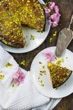 Dolce dell'acquerugiola del limone e del pistacchio Immagine Stock