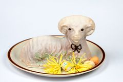 Dolce dell'agnello di Pasqua Immagini Stock
