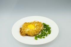 Dolce dell'uovo fritto Fotografie Stock Libere da Diritti