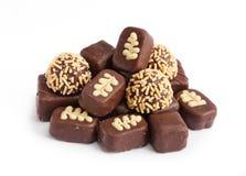 Dolce della caramella di cioccolato immagini stock
