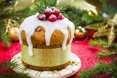 Dolce della frutta di Natale Fotografia Stock Libera da Diritti