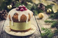 Dolce della frutta di Natale Immagine Stock Libera da Diritti