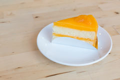 Dolce della marmellata di arance sul piatto bianco Fotografia Stock