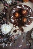 Dolce della pera del cioccolato Fotografie Stock Libere da Diritti