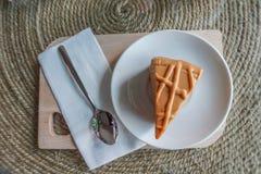 Dolce della vaniglia su di legno Immagini Stock Libere da Diritti